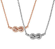 Judith Ripka Sterling Diamonique 3/4 cttw Knot Necklace - J322656