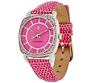 Judith Ripka Steel & Pave Diamonique Stingray Aurora Watch - J323356
