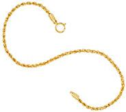 Vicenza Gold 6-3/4 Rope Chain Bracelet, 14K - J323956