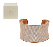 As Is Ultra Pave Average Bold Cuff by Diamonique - J324456