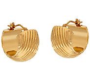 Oro Nuovo Ribbed Huggie Hoop Earrings, 14K - J324656