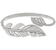 Judith Ripka 3.65 cttw Diamonique Feather Cuff Bracelet - J325456