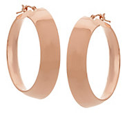Vicenza Gold 1-1/2 Polished Mirror Round Hoop Earrings, 14K - J326056