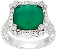 Judith Ripka Sterling Doublet & Diamonique Arabella Ring - J326856