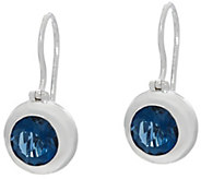 Jane Taylor Round Gemstone Sterling Silver Drop Earrings 3.00 cttw - J330956