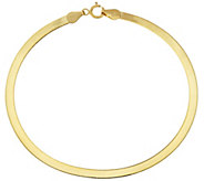 As Is Vicenza Gold 8 Solid Polished Herringbone Bracelet, 1.5g - J331056