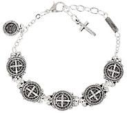 My Saint My Hero Benedictine Blessing Link Bracelet - J331156
