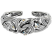 JAI Sterling & 14K Andaman Sea Golden Koi Fish Cuff Bracelet - J331256
