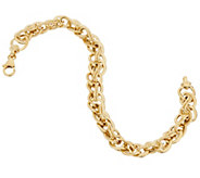 Dieci 7-1/4 Textured Woven Bracelet 10K Gold, 5.3g - J332256