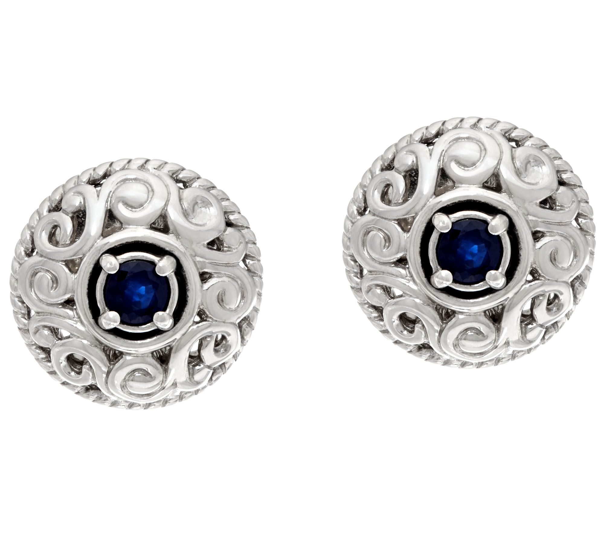 Carolyn Pollack Sterling Silver Birthstone Signature Earrings  Page 1 — Qvc