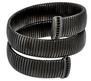 As Is Judith Ripka Sterling Large Verona Tubogas Wrap Bracelet - J346656