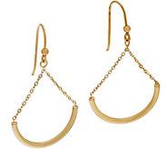 Italian Gold Polished Chain Drop Earrings 14K Gold - J347356