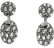 JAI Sterling Silver Croco Texture Pebble Drop Earrings - J350256