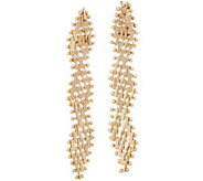 Imperial Gold Serpentine Earrings, 14K Gold - J351556