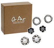 Or Paz Sterling Silver Individually Boxed Set of 3 Stud Earrings - J351756