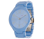 Isaac Mizrahi Live! Ceramic Watch with Matte Details - J351856