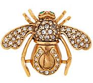 Joan Rivers Lucky Horseshoe Bee Pin - J353456