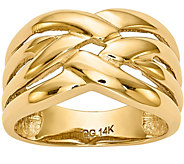 14K Gold Polished Woven Ring - J376656