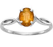 14K White Gold Oval Gemstone Ring - J376956