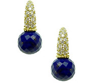 Judith Ripka Sterling & 14K Clad Lapis & Diamonique Earrings - J378256