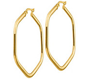 14K Gold 1-3/4 Polished Hoop Earrings, 2.7g - J382156