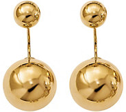 14K Gold Double Ball Screwback Earrings, 6.5g - J382256