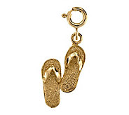 Flip Flop Charm, 14K Yellow Gold - J105757