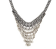 Ombre Chain Bib Necklace - J261757