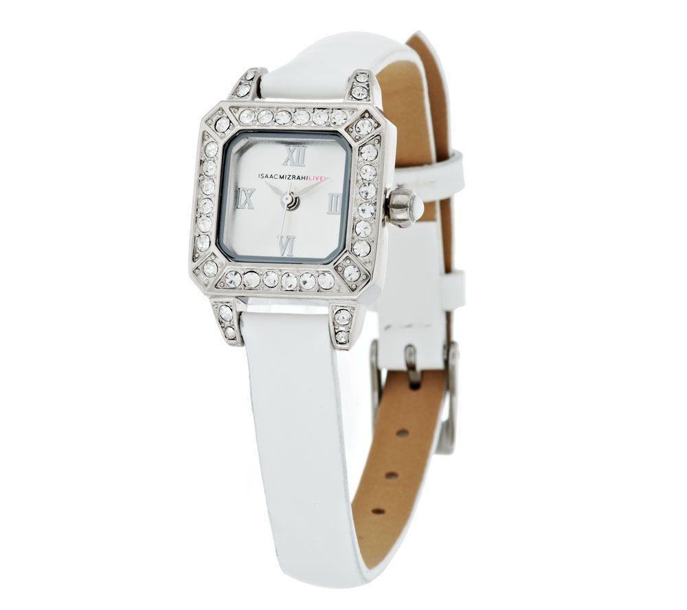 Isaac Mizrahi Live! Strap Mini Crystal Face Watch - Page 1 ...