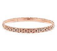 Sterling Round Byzantine Slip-On Bangle Bracelet Avg - J290257