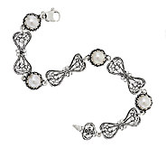 Artisan Crafted Cultured Pearl Sterling Station Bracelet - J294757