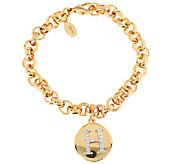 As Is Joan Rivers Pave Initial Charm Bracelet - J296757