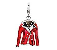 Amore La Vita Sterling Dimensional Red JacketCharm - J299757