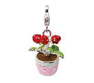 Amore La Vita Sterling Dimensional Flowers inPot Charm - J299957