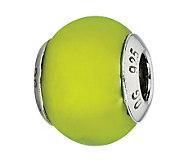 Prerogatives Sterling Lime Matte Italian MuranoBead - J300357