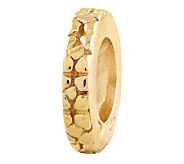 Prerogatives Gold-Plated Sterling Notched Floral Spacer Bead - J302657