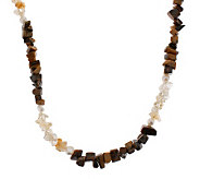Lee Sands Tigers Eye Citrine & Cultured Pearl36 Necklace - J302757