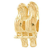 Prerogatives 14K Yellow Gold-Plated Sterling Love Birds Bead - J302857
