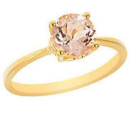 1.00 ct Round Morganite Ring, 14K Yellow Gold - J305457