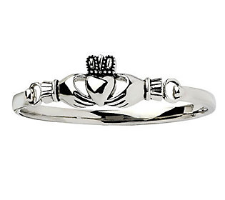 Stainless Steel Claddagh Bangle