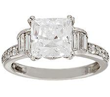 Epiphany Diamonique 3.30 cttw Princess Cut Ring