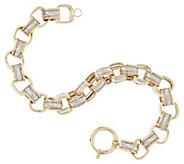 14K Gold 8 Polished & Textured Square Rolo Bracelet, 12.4g - J319357