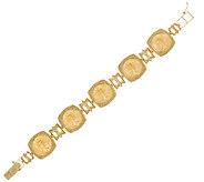 14K/22K Gold 7-1/4 Solid Multi-Liberty Coin Bracelet, 33.6g - J319557