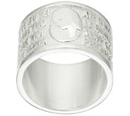 UltraFine Silver Ave Maria Wide Band Ring - J320357