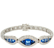 The Elizabeth Taylor Simulated Sapphire Tennis Bracelet