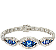 The Elizabeth Taylor Simulated Sapphire Tennis Bracelet - J323357