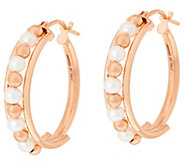 Honora Cultured Pearl 3.0mm Round 1 Bronze Hoop Earrings - J323857