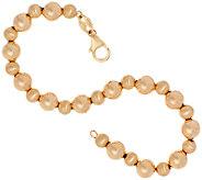 EternaGold 6-3/4 Polished & Satin Bead Bracelet 14K Gold, 2.9g - J324057