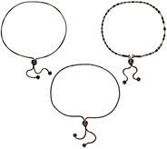 Vicenza Silver Sterling Set of Three Adjustable Bracelets - J324257