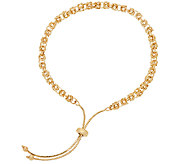 14K Gold Adjustable Byzantine Bracelet, 3.2g - J324657